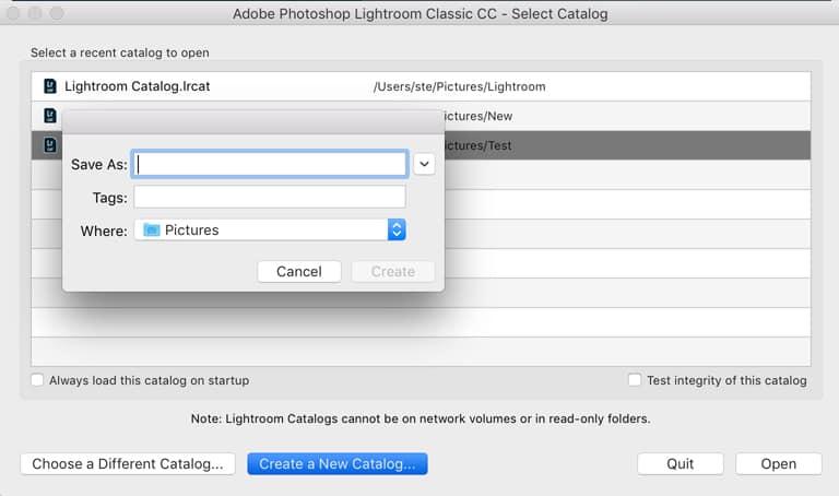Adobe Lightroom Classic CC Catalog Create | Learn Lightroom