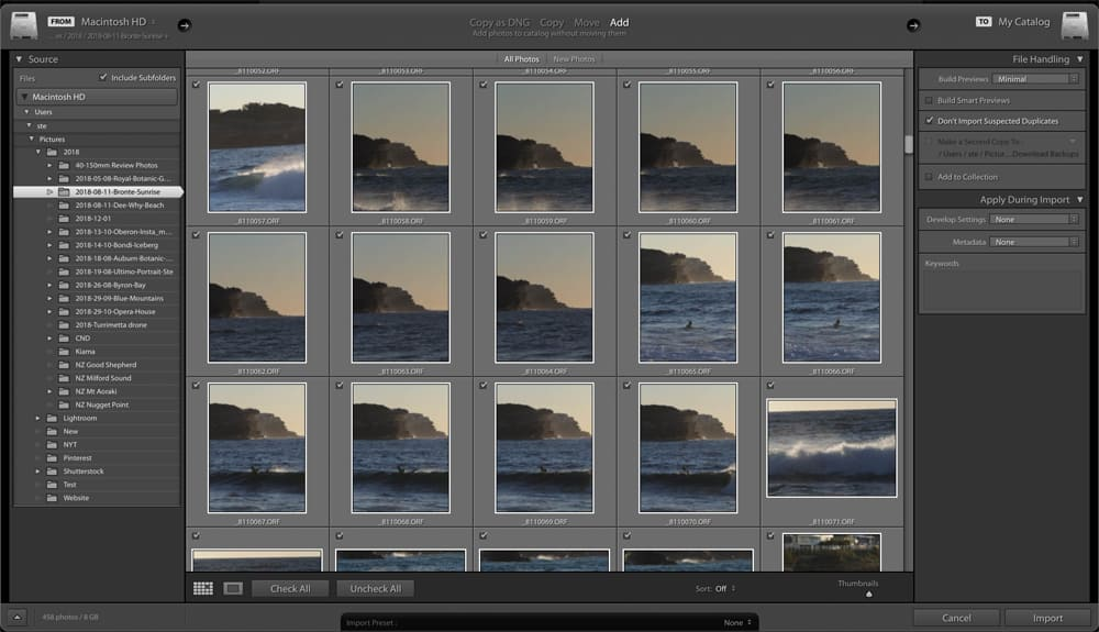Lightroom Import Dialog | Learn Lightroom like a pro