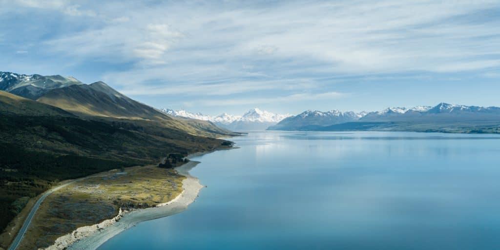 Drone Pano of Mt Aoraki NZ