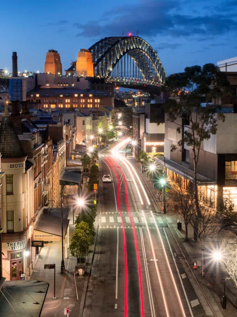 Harbour Bridge Sydney Australia - Olympus Live Composite
