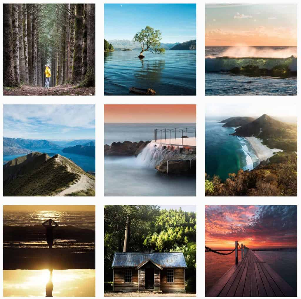 Various sunrise pictures. Instagram feed Stefano Caioni