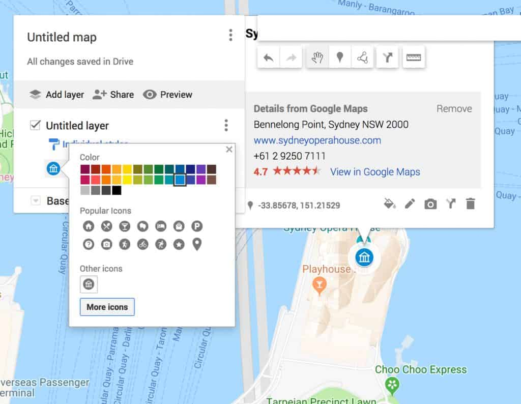 Customize Marker | Plan your photography trip