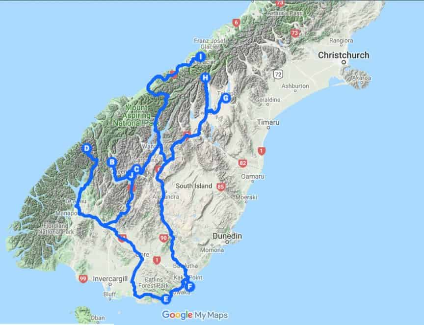 New Zealand Map   Plan your photography trip