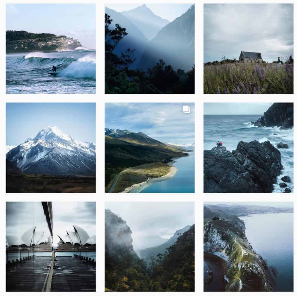 Instasgram feed of Stefano Caioni - Plan your  photography road trip using Instagram