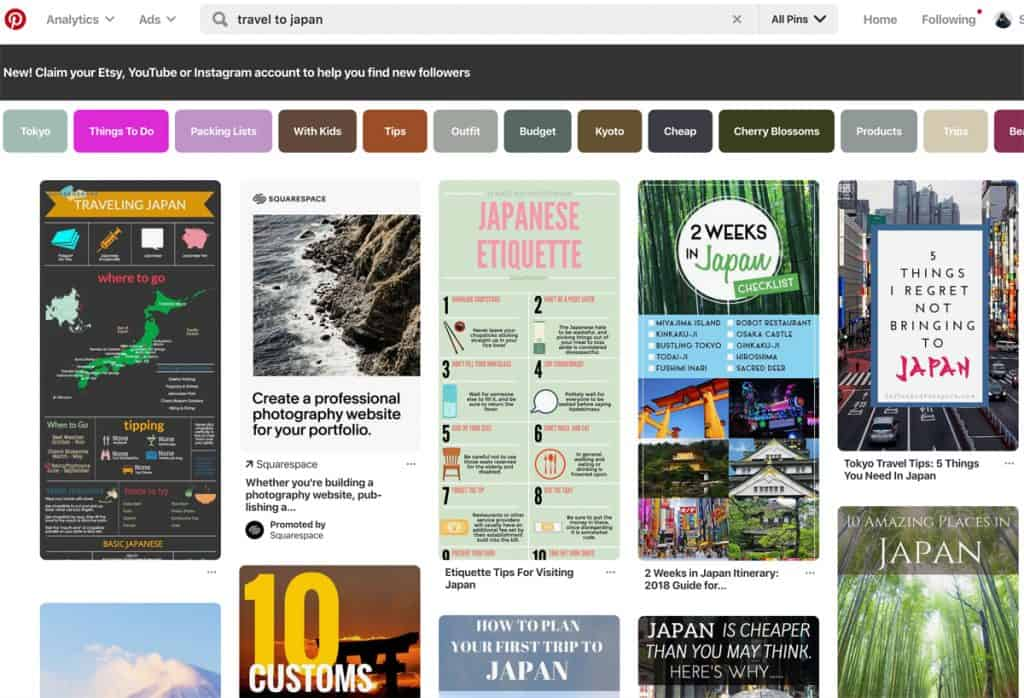 Pinterest Feed - Plan your trip With Pinterest