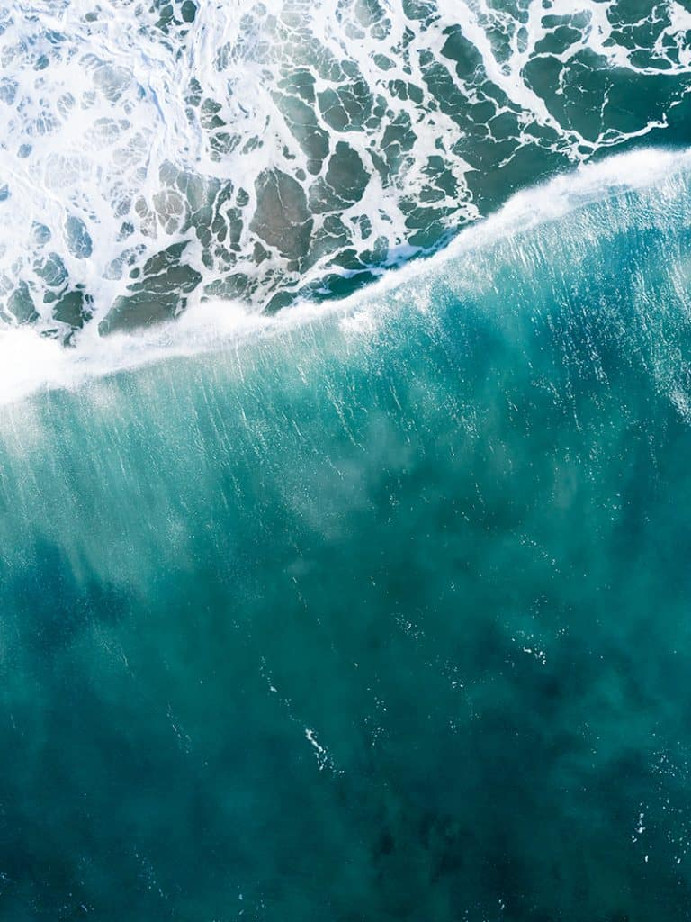 Aerial Photo of Waves