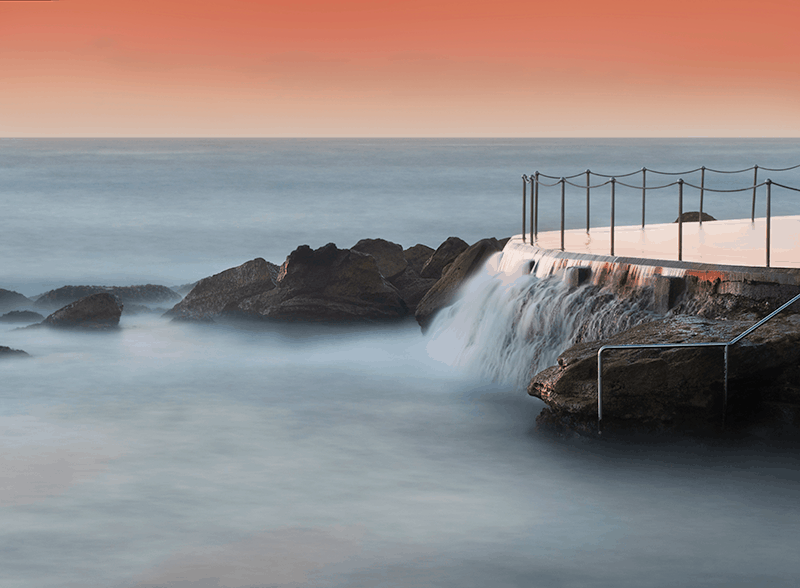Bronte Beach tidal pool. Long exposure photo