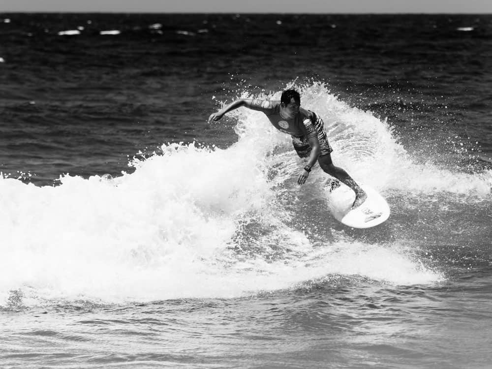 Black and White photo of surfer