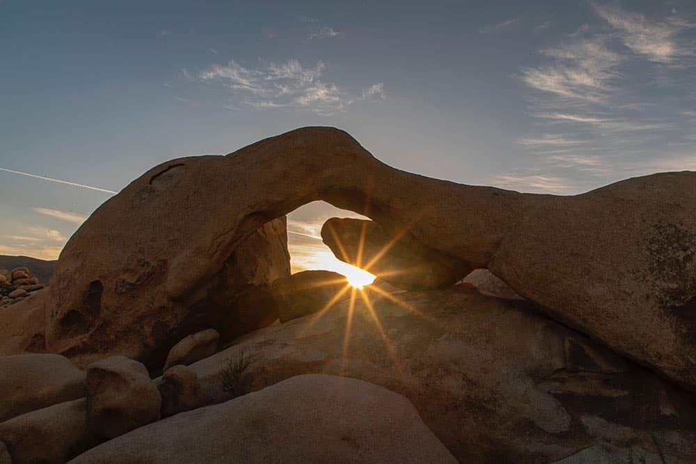 narrow aperture in a landscape photograph