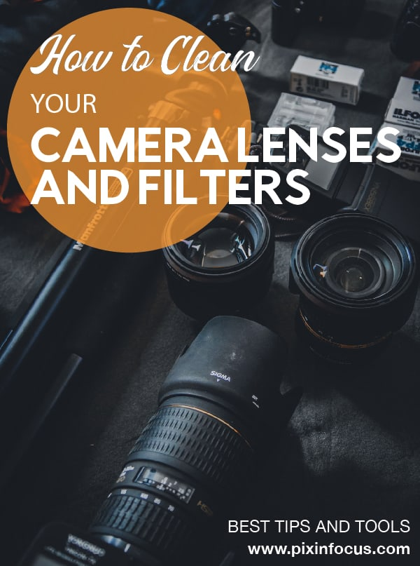 pinteres pin for How to clean camera lens