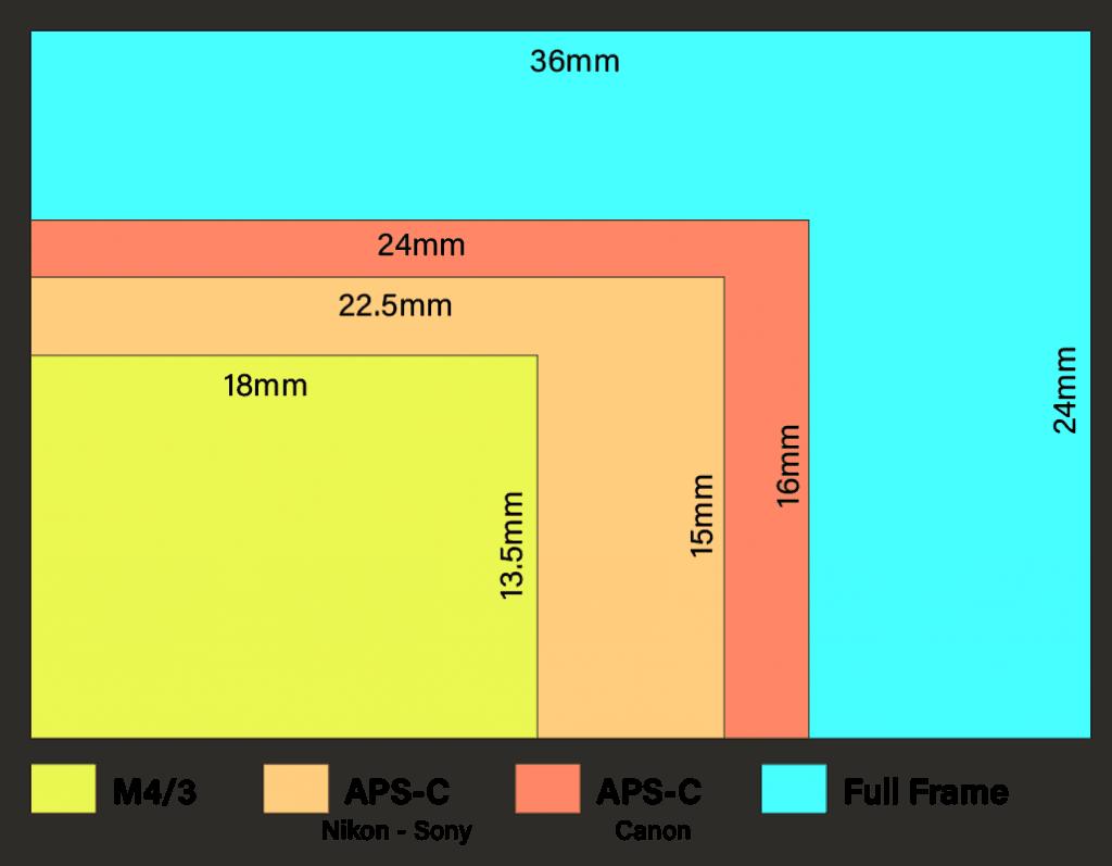 Different camera sensor sizes Full Frame vs Crop Sensor: