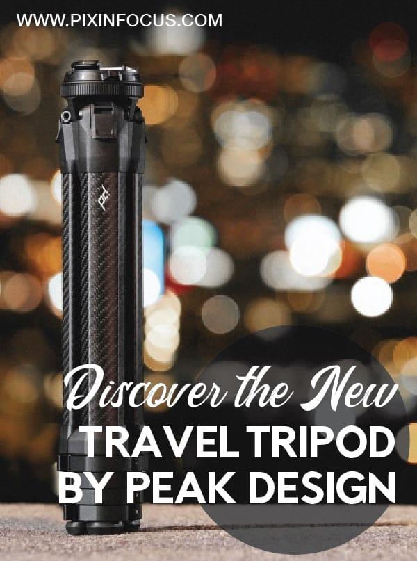 pinterest pin Peak Design travel tripod