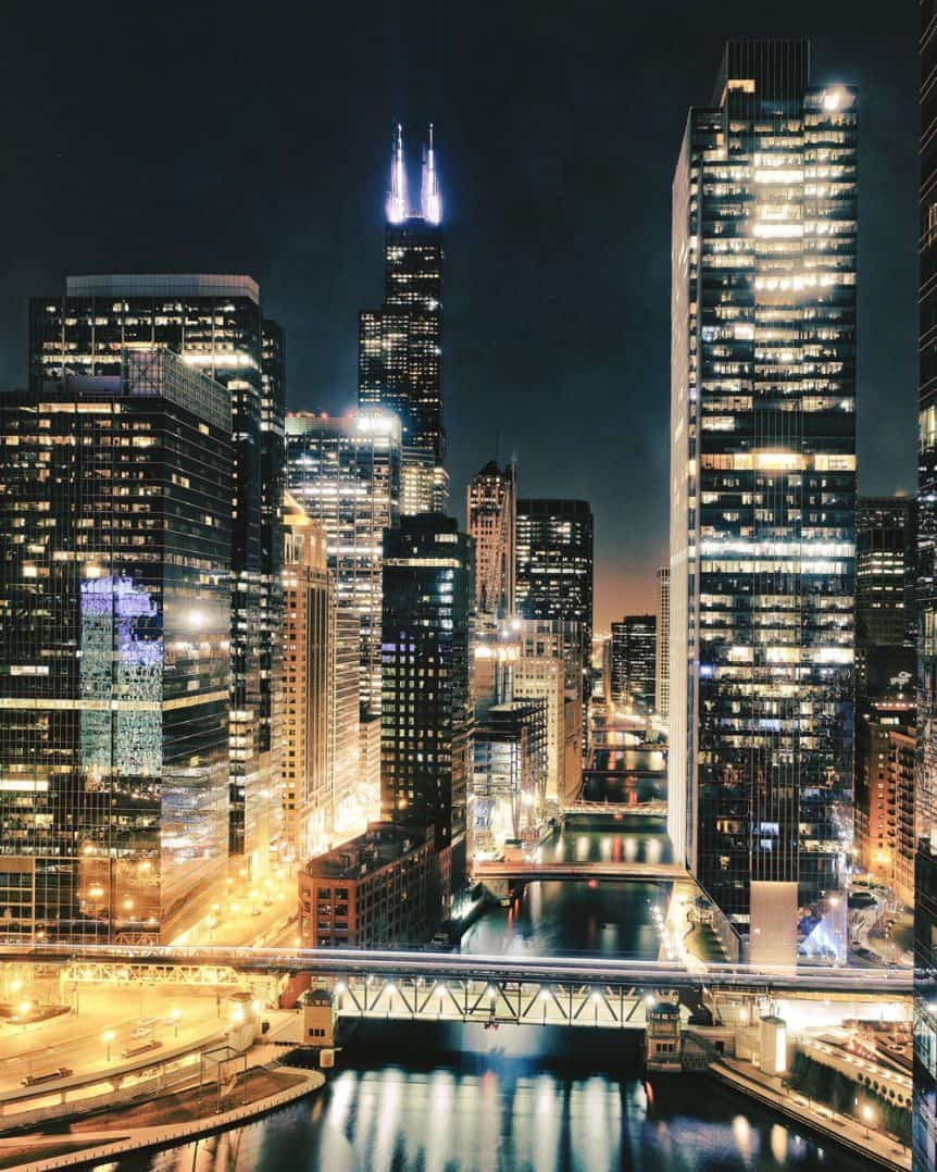 Night cityscape photography