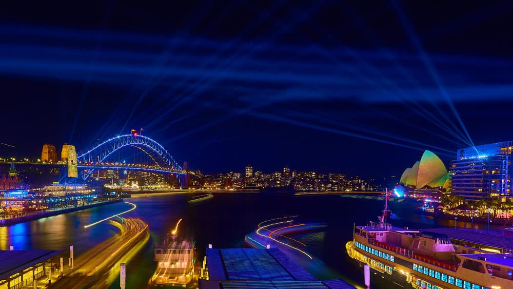 night cityscape of Sydney, Australia