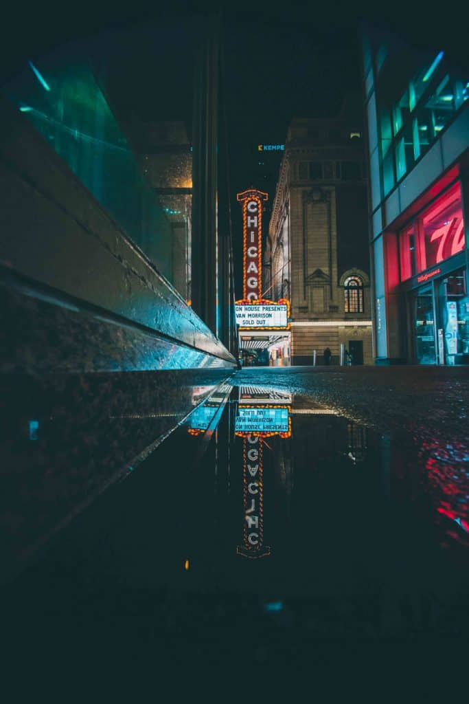night cityscape photography reflections