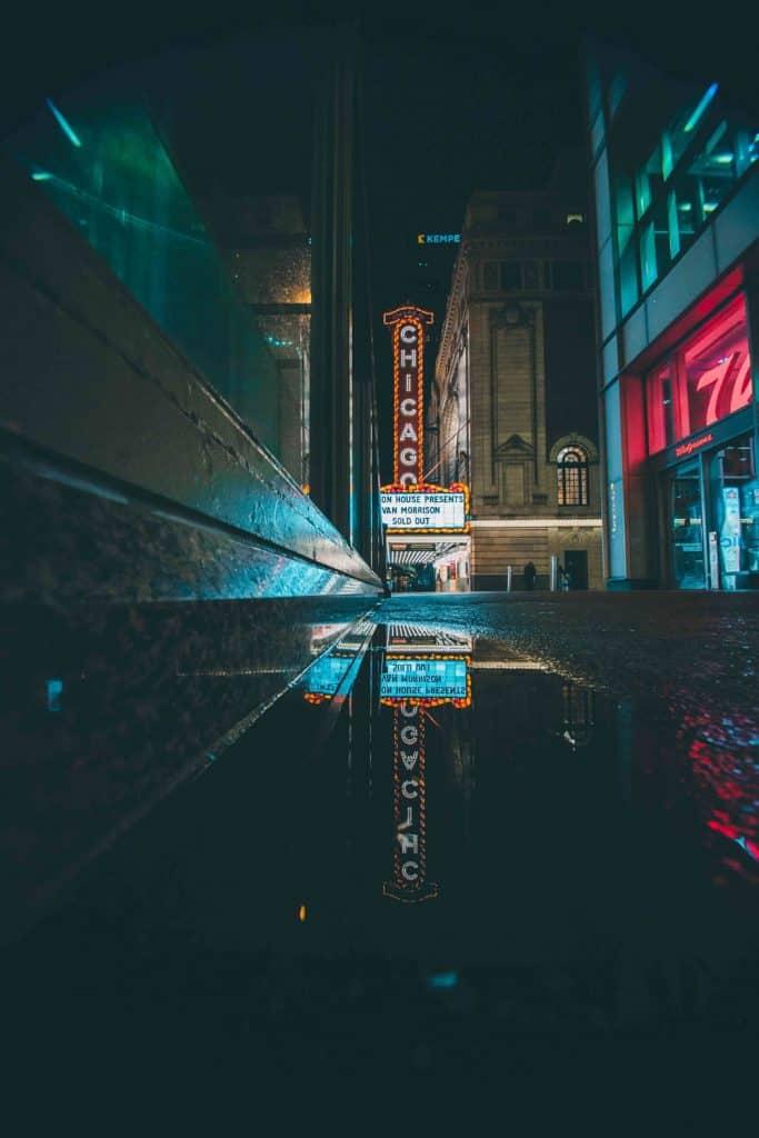 night cityscape photography reflections