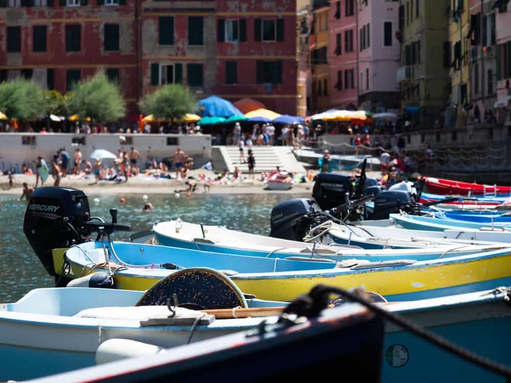 cinque terre iconic boats