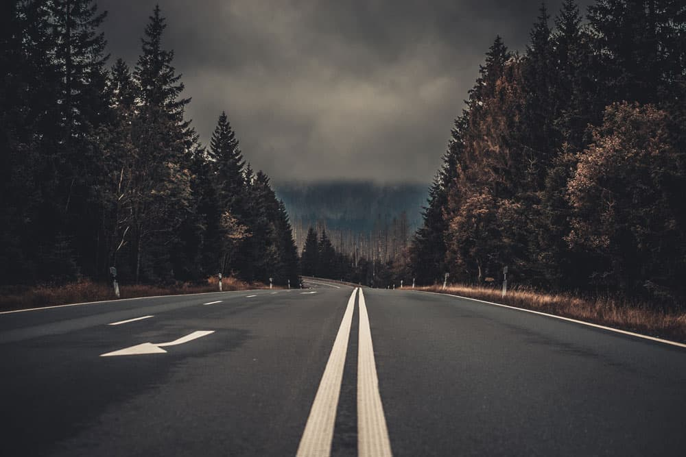 Road with leading lines