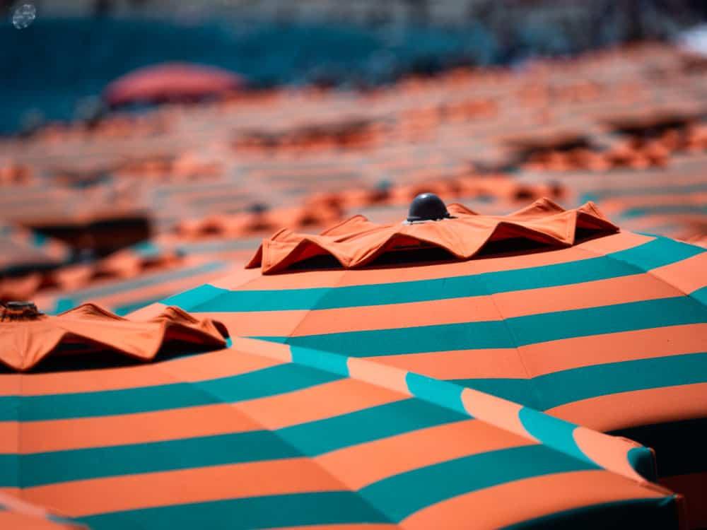 beach umbrella in Cinque Terre