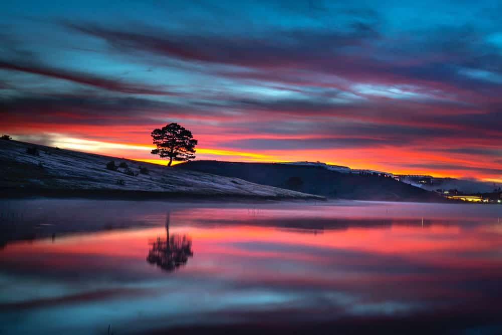 Post-processed landscape photo