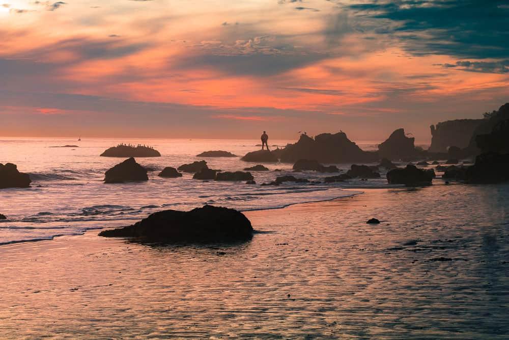 ocean photography at golden hour