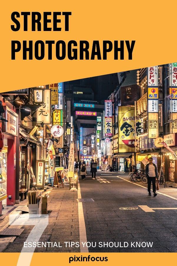 Pinterest pin Street Photography tips