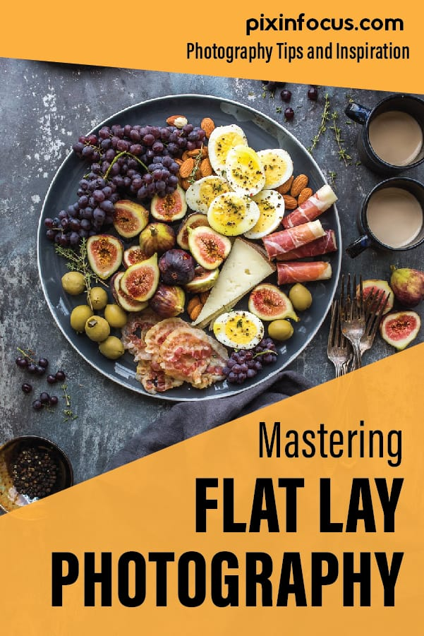 flat lay shareable pin