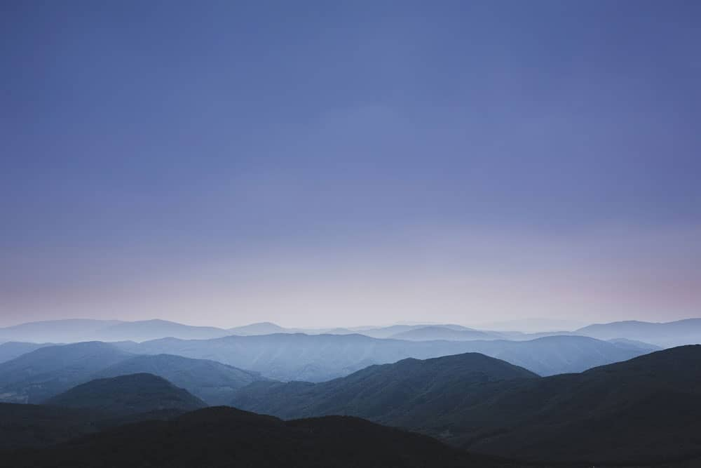 Mountains with layers