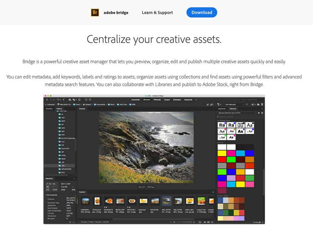 Adobe Bridge photo manager