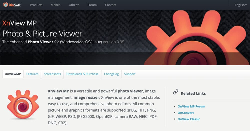 XnViewMP picture viewer