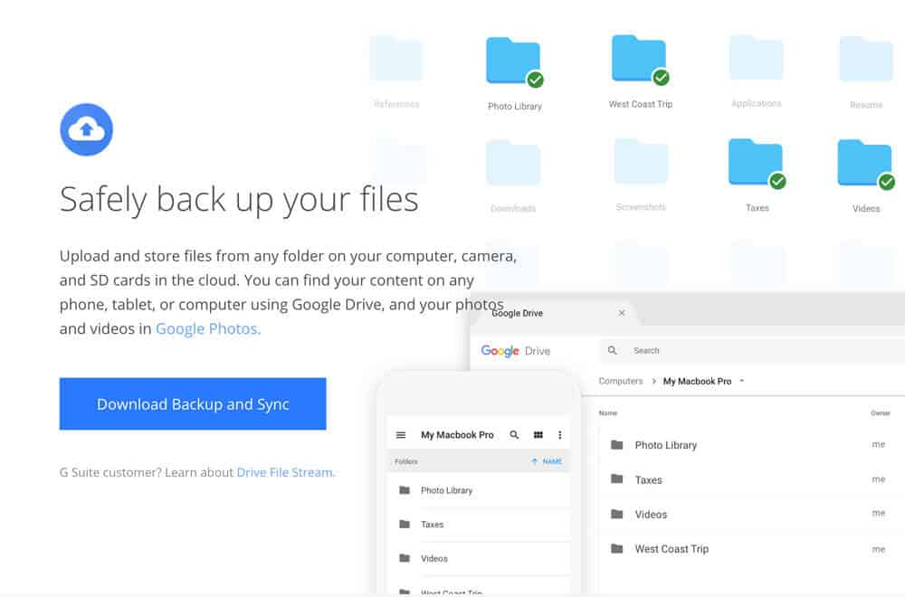 Google Photos + Backup and Sync