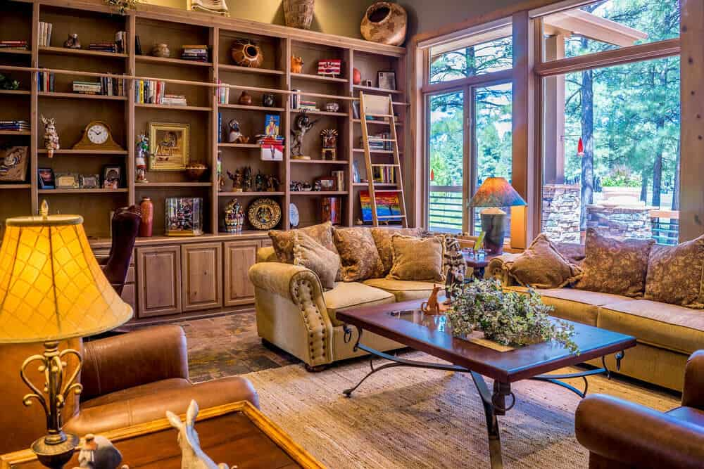 cluttered indoor space