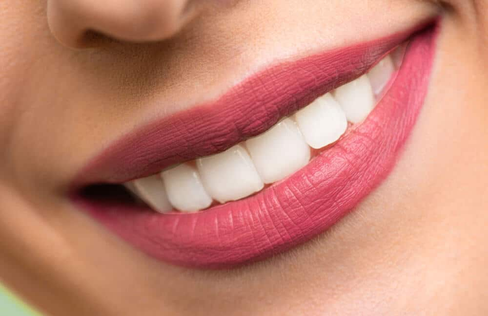 partial result how to whiten teeth in photoshop