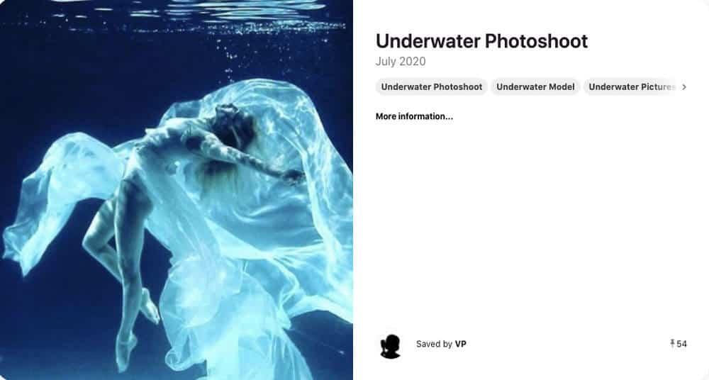model with wedding dress underwater