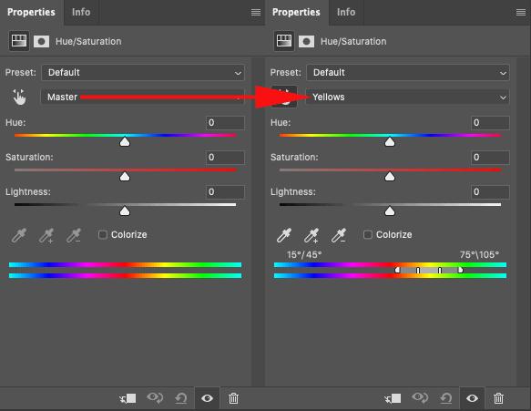 Color shades dropdown