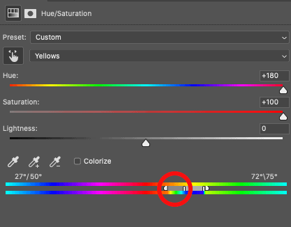 How to Whiten Teeth in Photoshop moving the range slider