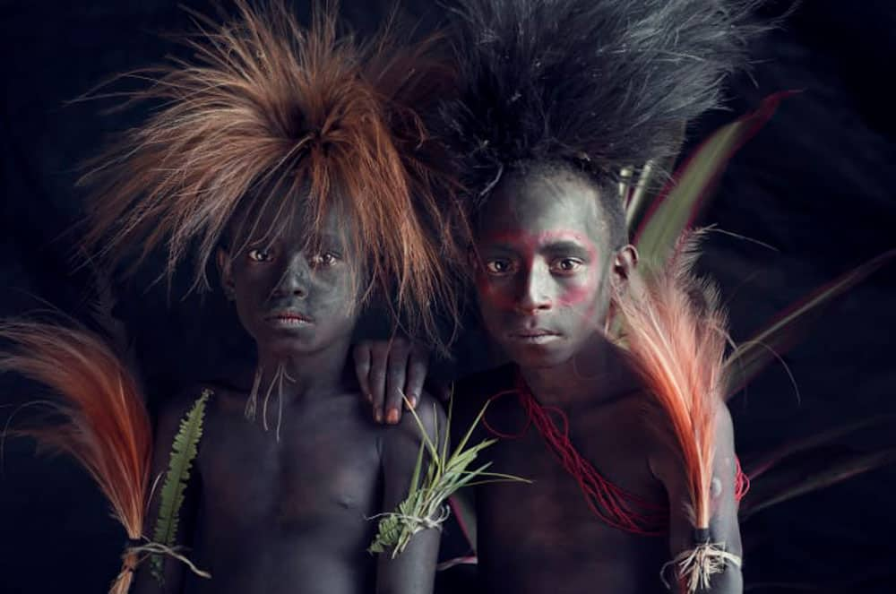 young indigenous portrait by Jimmy Nelson