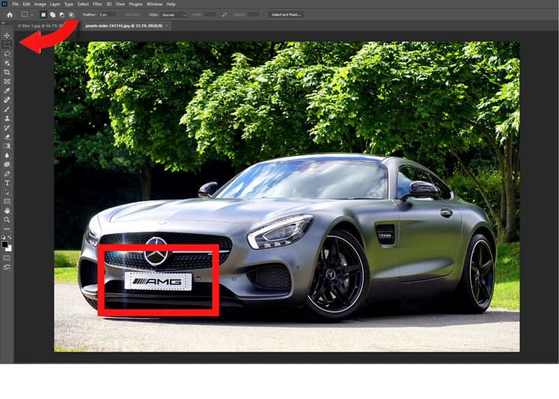 how to blur in photoshop
