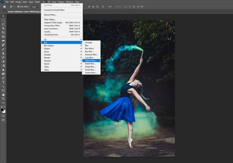 adding motion blur