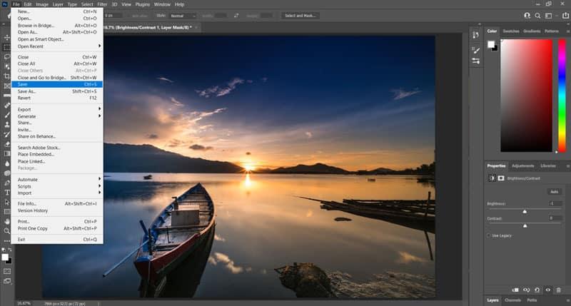 export in photoshop